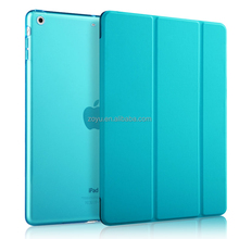 candy color folding pu leather flip cover case for ipad air cases