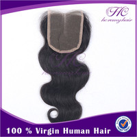 Most Popular Retail Items Grade 7A Clear Middle Part Virgin Brazilian Wavy Lace Closure