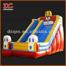 Attractive Large Red Rabbit Inflatable Slide