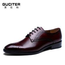 Purely manual Loafer men dress shoes Real Animal Leather Dress Shoe