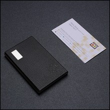 metal business name card holder with leather card holder for VIP customers
