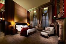 hotel bed headboard dubai 5 stars hotel room BR-R044