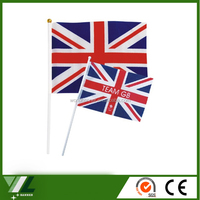 Decorate different kinds hand waving national flag