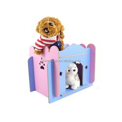 Colorful Dog House Wood Dog Bed