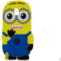 Despicable Me Minions 3D Cute Cartoon Lovely Soft Silicone Phone Case Back Cover For Samsung Galaxy S5 I9600