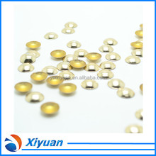 Grade AA Quality Wholesale 2mm to 1mm Size Gold Color Hot Fix Dome Stud