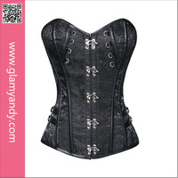 High Quality New Fashion Steel Boned Steampunk Corset Bustier