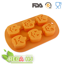 Halloween decorations! pumpkin shape silicone chocolate mold for kid