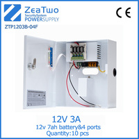 Metal case for power units 12v 3a cctv camera box-type 12 v power supply with backup