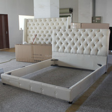 Hot sale soft modern appearance bed general use home furniture with bamboo style