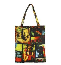 Custom printed Casual Womens Canvas Tote shoulder bag for girl