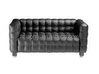 See larger image genuine leather three Seater kubus Sofa for home