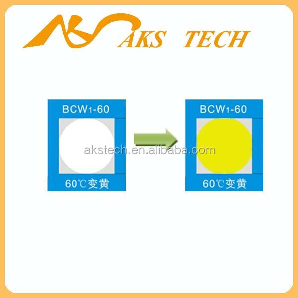 Etiqueta adesiva de alta temperatura de cor mudar etiquetas sensíveis ao calor
