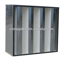 H13 V-bank HEPA filter big air flow H13