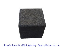 Flamed Black Basalt G684 Cubes