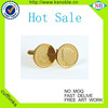 Wholesale Gold plated latest fashion newstyle stainless steel cufflink