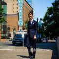 los hombres de moda slim fit dos botón de solapa muesca de negocio traje de los hombres