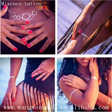 Hot selling 2015 Summer series New Design&Customized Metallic Gold Sliver Jewelry Tattoo/Temporary Body Tattoo Supply