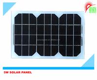 Glass laminated 5W Mono/Poly solar panel