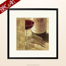 Delicate dinning room wall art modern still life print wine glass oil painting