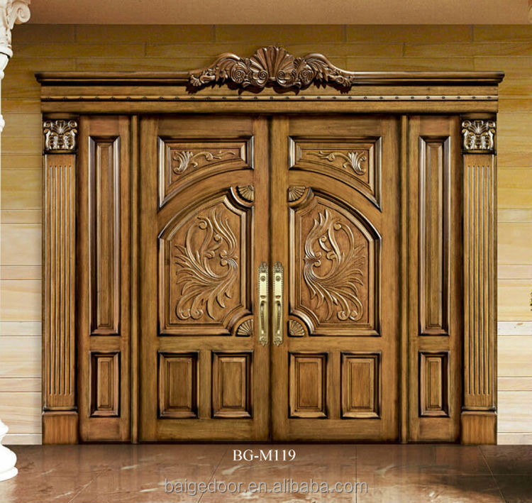 Bg m119 indian door designs double doors south indian for Indian main double door designs