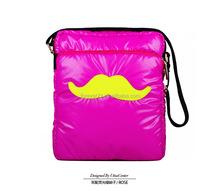 2014 fashion unisex hot pink cheap down leather shoulder bag