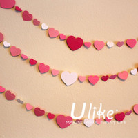 party paper jointed banner Heart Wedding Heart chart paper decoration Valentine's Day Decor