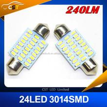 2015 new 31mm 36 mm 39mm 42mm 16SMD 2835 LED 240LM Super White Festoon Dome 12 LED Car Light Bulb Lamp LED Light