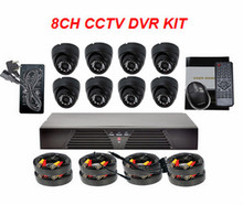 Cheap Price CMOS 600 TV lines Night Vision Cam & DVR CCTV Camera 8 Channel Combo Set