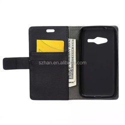 New Lychee PU Wallet Leather Case For Samsung Galaxy Trend 2 Lite G318