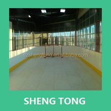 High impact resistant ice hockey fense