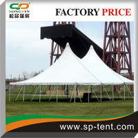 12x18m Anchor century tent staked into grounds by guy ropes and pegs