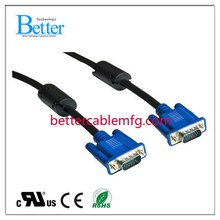 Best quality hot selling vga male to male cable for pc tv