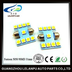 Festoon 5050 9SMD 31mm 12V Bulb Car Interior Led Light Furniture Head Light Led Light Bulb
