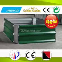 Green color zinc steel garden bed cheap 2015 new product