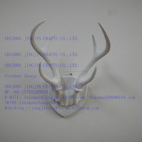 white wall mounted resin deer antler wall decor/Faux Taxidermy Chistmas decorative resin deer antler