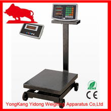 300kg industrial weighing scale with wheels