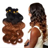 Best grade virgin human hair extension,body wave hair weaving,brazilian hair 1b 33 hair color