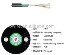 outdoor stranded loose tube aerial/fiber optic cable and wire GYTS