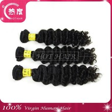Wholesale Unprocessed Virgin Peruvian Hair Bundles Deep Wave Hair Weaves With Pictures