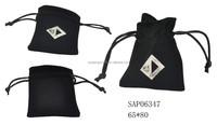 custom velvet jewelry pouch with logo