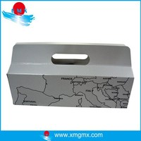 Grey Cardboard Printed Emapty GIft Boxes for Sale with Handle
