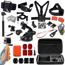 used for gopro hero 4 black edition for gopro accessories Combo Kit 16 in 1