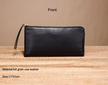 Multifunctional soft genuine leather wallet, travel wallet ,leather credit card zipper cluth bag