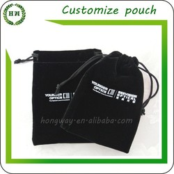 Hongway Customized Logo Velvet pouch / velvet jewelry pouch / velvet bag