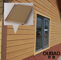 Hochbau modernes haus wand holz außen holz-kunststoff-verbundmaterial pvc verkleidung