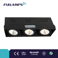high power 3*25W 3*30W 3*40W triple head led grille light with high lumens and long life span