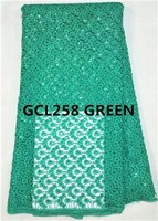 Big chemical lace cord guipure lace cupion lace green