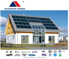 Econova solar system luxury prefab steel villa