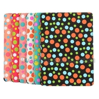 Pretty Polka Dots Pattern Stand Design Flip Leather Tri-fold Cover for iPad Air (Rose/Red Dots)